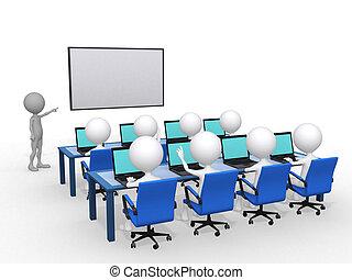 render, cultura, illustrazione, puntatore, persona, chiudere, 3d, asse, mano, concetto, educazione