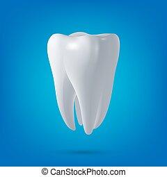 render., dentale, salute, 3d, dente, vettore, disegno, element., concetto, medicina