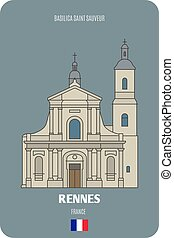 rennes, basilica, santo, sauveur, francia