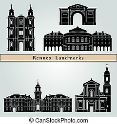 rennes, limiti, monumenti