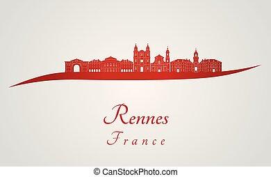 rennes, orizzonte, rosso