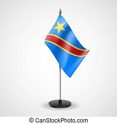 repubblica, democratico, congo, tavola, bandiera