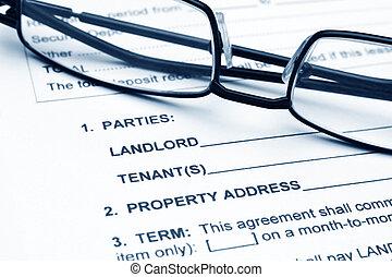 residenziale, accordo, contratto affitto