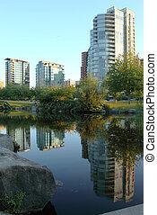 residenziale, costruzioni, canada., vancouver, bc.