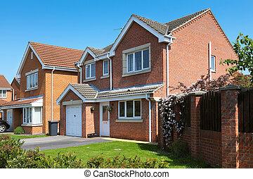 residenziale, tipico, proprietà, inglese