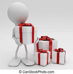 reso, lotti, gifts., concepts., 3d, cellebrations, uomo