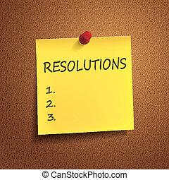 resolutions, parole, posto-esso