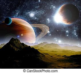 resources., lontano, astratto, travel., space., futuro, profondo, fondo, nuovo, tecnologie