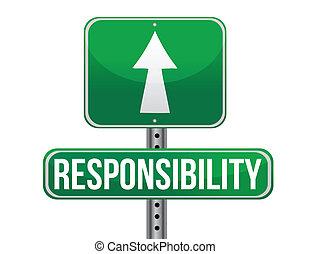 responsabilità, disegno, strada, illustrazione, segno