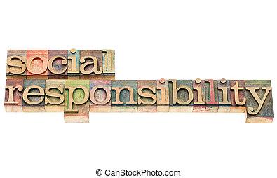responsabilità, legno, tipo, sociale