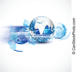 rete, concetto, comunicazione, vettore, mondo, tecnologia