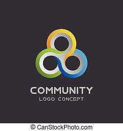 rete, disegno, lavoro squadra, icon., gruppo, squadra, sociale, 3d, unione, vettore, associazione, logotipo, amicizia, lavoro, sagoma, logotype, comunità, triplo