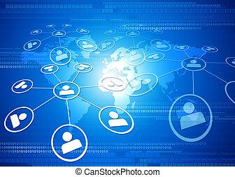 rete globale, concetto, affari