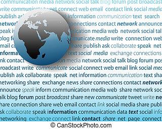 rete, media, comunicazione globale, collegamento, sociale
