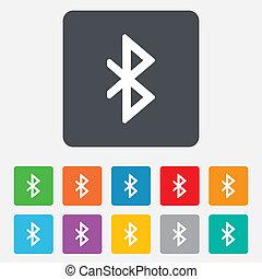 rete, mobile, simbolo., segno, icon., bluetooth