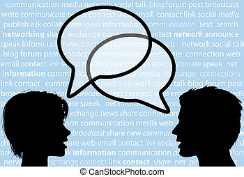 rete, persone, azione, discorso, sociale, bolle, discorso