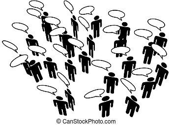 rete, persone, media, comunicare, discorso, collegare, sociale