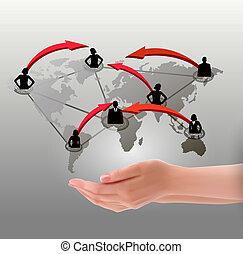 rete, tenere mani, sociale