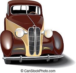 retro, automobile