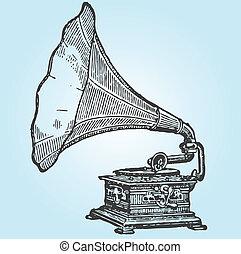 retro, grammofono