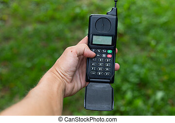 retro, mobil, telefono