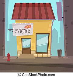 retro, negozio