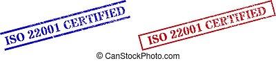 rettangolo, graffiato, iso, textured, 22001, francobollo, cornice, certificato, sigilli