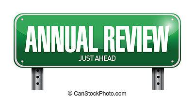 revisione, annuale, illustrazione, segno, disegno, strada