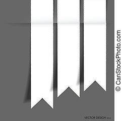 ribbon., vettore, illustration., collezione