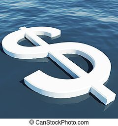 ricchezza, soldi, esposizione, dollaro, guadagni, galleggiante, o