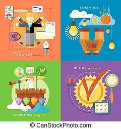 ricerca, concorrente, idee, identità, analisi