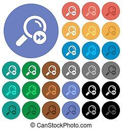 ricerca, rotondo, trovare, icone, colorato, ultimo, appartamento, risultato, multi