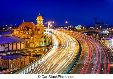richmond, principale, stazione, strada