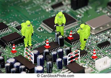 riciclaggio, elettronica, concetto