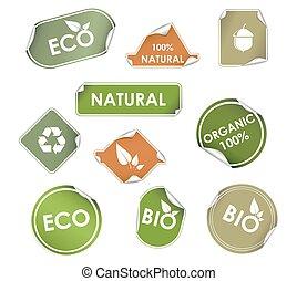 riciclaggio, etichette, eco