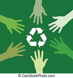 riciclaggio, verde, squadra