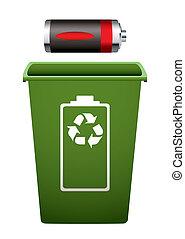 riciclare, batteria