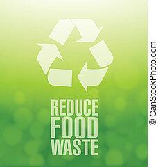 riciclare, cibo, spreco, ridurre, verde