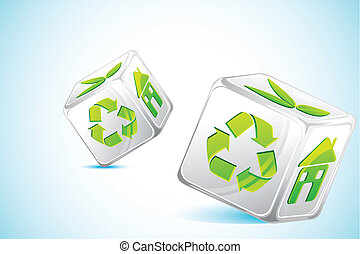riciclare, dado