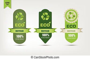 riciclare, ecologico, etichette