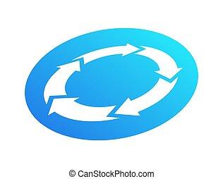 riciclare, icon., vettore