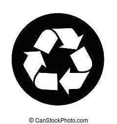 riciclare, icona
