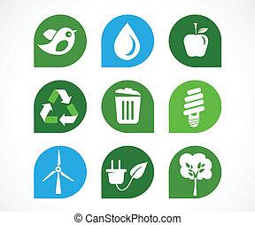 riciclare, icone