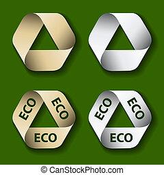 riciclare simbolo, carta, vettore