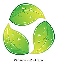 riciclare simbolo, frondoso