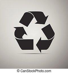 riciclare simbolo, icon.