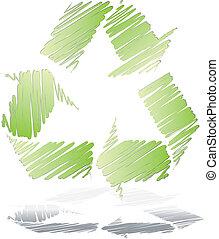 riciclare simbolo, vettore, disegno