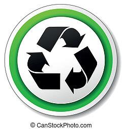 riciclare simbolo, vettore, icona