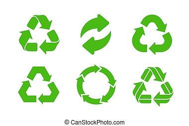 riciclare, vector., icona