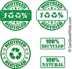 riciclato, francobolli